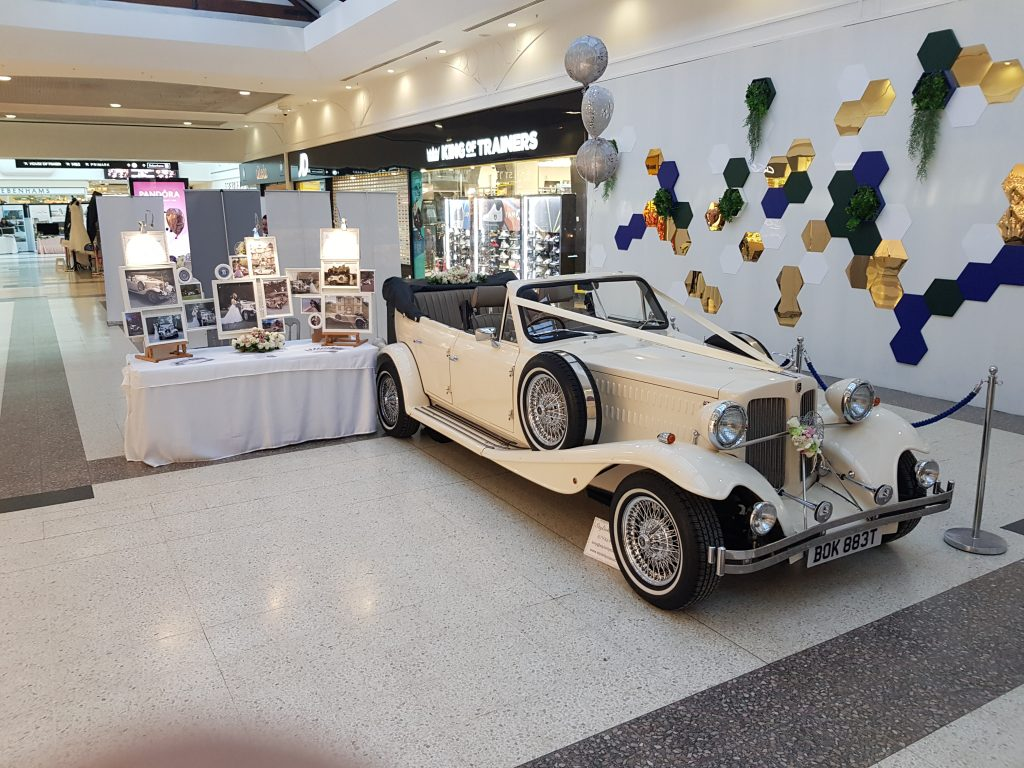 Beauford Wedding Car at an event/wedding fayre.